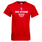 Red T Shirt-Basketball Sharp Net Design