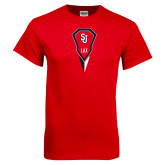 Red T Shirt-Modern Lacrosse Stick