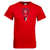 Red T Shirt-Modern Lacrosse Stick