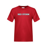 Youth Red T Shirt-Red Storm