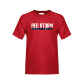 Youth Red T Shirt-Volleyball Bar Design
