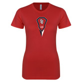 Next Level Ladies SoftStyle Junior Fitted Red Tee-Modern Lacrosse Stick