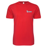Next Level SoftStyle Red T Shirt-St Johns
