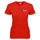 Ladies Red T Shirt-St Johns