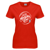 Ladies Red T Shirt-We are New Yorks Team