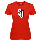 Ladies Red T Shirt-SJ