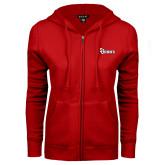 ENZA Ladies Red Fleece Full Zip Hoodie-St Johns
