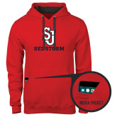 Contemporary Sofspun Red Hoodie-SJ Redstorm Stacked