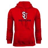Red Fleece Hoodie-SJ Redstorm Stacked