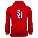 Red Fleece Hoodie-SJ