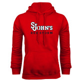 Red Fleece Hoodie-St Johns Red Storm