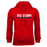 Red Fleece Hoodie-Baseball Bar Design
