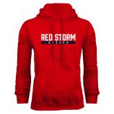 Red Fleece Hoodie-Soccer Bar Design