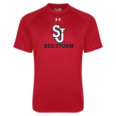 Under Armour Red Tech Tee-SJ Redstorm Stacked