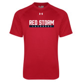 Under Armour Red Tech Tee-Lacrosse Bar Design