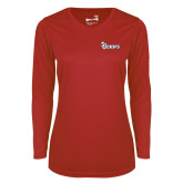 Ladies Syntrel Performance Red Longsleeve Shirt-St Johns