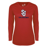 Ladies Syntrel Performance Red Longsleeve Shirt-Grandma