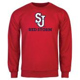 Red Fleece Crew-SJ Redstorm Stacked