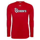 Under Armour Red Long Sleeve Tech Tee-St Johns