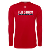 Under Armour Red Long Sleeve Tech Tee-Basketball Bar Design