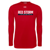 Under Armour Red Long Sleeve Tech Tee-Lacrosse Bar Design