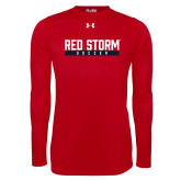 Under Armour Red Long Sleeve Tech Tee-Soccer Bar Design