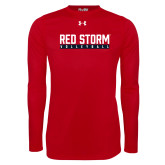 Under Armour Red Long Sleeve Tech Tee-Volleyball Bar Design
