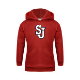 Youth Red Fleece Hoodie-SJ