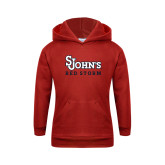 Youth Red Fleece Hoodie-St Johns Red Storm
