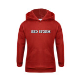Youth Red Fleece Hoodie-Red Storm