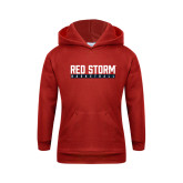 Youth Red Fleece Hoodie-Basketball Bar Design