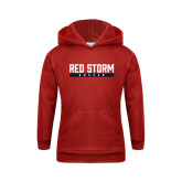 Youth Red Fleece Hoodie-Soccer Bar Design