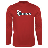 Syntrel Performance Red Longsleeve Shirt-St Johns