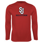 Syntrel Performance Red Longsleeve Shirt-SJ Redstorm Stacked