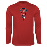 Syntrel Performance Red Longsleeve Shirt-Modern Lacrosse Stick