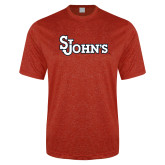 Performance Red Heather Contender Tee-St Johns