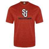 Performance Red Heather Contender Tee-SJ Redstorm Stacked