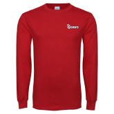 Red Long Sleeve T Shirt-St Johns