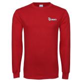 Red Long Sleeve T Shirt-St Johns
