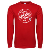 Red Long Sleeve T Shirt-We are New Yorks Team