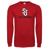 Red Long Sleeve T Shirt-SJ Redstorm Stacked