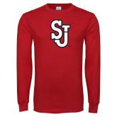 Red Long Sleeve T Shirt-SJ