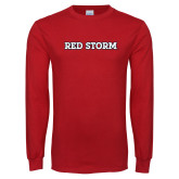 Red Long Sleeve T Shirt-Red Storm