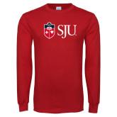 Red Long Sleeve T Shirt-SJU