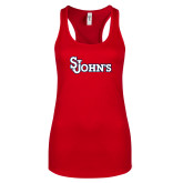 Next Level Ladies Red Ideal Racerback Tank-St Johns