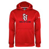Under Armour Red Performance Sweats Team Hoodie-SJ Redstorm Stacked