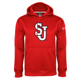 Under Armour Red Performance Sweats Team Hoodie-SJ