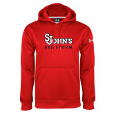 Under Armour Red Performance Sweats Team Hoodie-St Johns Red Storm