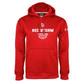 Under Armour Red Performance Sweats Team Hoodie-Basketball Sharp Net Design