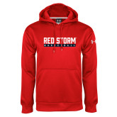 Under Armour Red Performance Sweats Team Hoodie-Basketball Bar Design